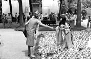 Kusama with 'Narcissus Garden', Venice Biennale, 1966