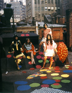 Fashion shoot on a New York rooftop, 1968
